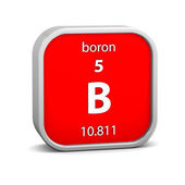 Boron material sign — Stock Photo