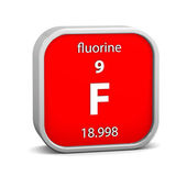 Fluorine material sign — Stock Photo