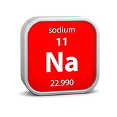 Sodium material sign — Stockfoto