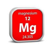 Signo material de magnesio — Foto de Stock