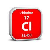Chlorine material sign — Stock Photo