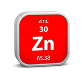 Zinc material sign — Stock Photo