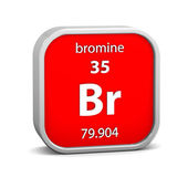 Bromine material sign — Stock Photo