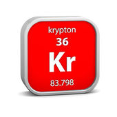 Krypton material sign — 图库照片