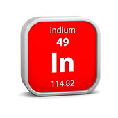 Indium material sign — Stock Photo
