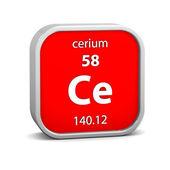 Cerium material sign — Stock Photo