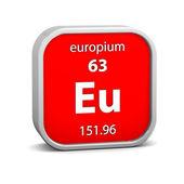 Europium materiella tecken — Stockfoto