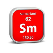 Samarium material sign — Stock Photo