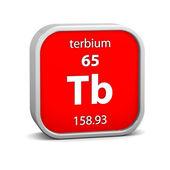Terbium material sign — Stock Photo