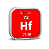 Hafnium material sign — Stock Photo