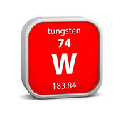 Tungsten material sign — Stock Photo