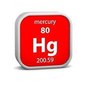 Mercury material sign — Stock Photo