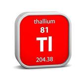 Tallium materiella tecken — Stockfoto