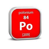 Polonium materiella tecken — Stockfoto