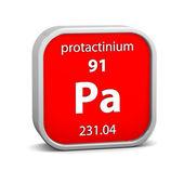 Protactiniumen materiella tecken — Stockfoto