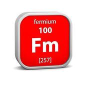 Fermium material sign — Stock Photo