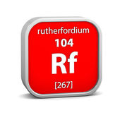 Rutherfordium material sign — Stock Photo