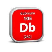 Materiał znak: dubnium — Zdjęcie stockowe