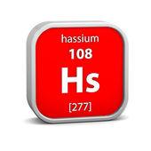 Materiální znak hassium — Stock fotografie
