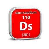 Darmstadtium material sign — Stok fotoğraf