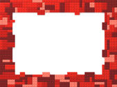 Toy Bricks Picture Frame - Red — Stock Photo