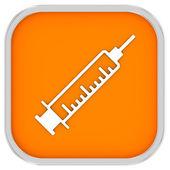 Sinal de seringa — Foto Stock