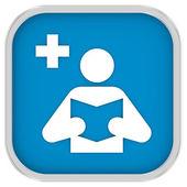 Segno della biblioteca medica — Foto Stock