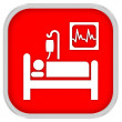 Stock Photo: Intensive Care sign