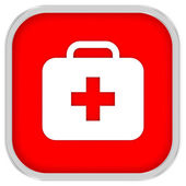 First Aid Kit Sign — Stock Photo