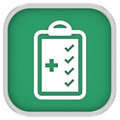 Signo de la lista de chequeo médico — Foto de Stock