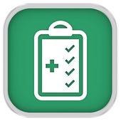 医療品チェックリスト記号 — ストック写真