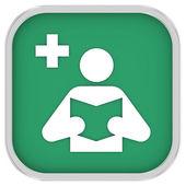 Sinal de bibliotecas médicas — Foto Stock