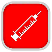 Syringe Sign — Stock Photo