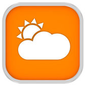 Mainly clear or partly cloudy with sunny intervals sign — Stock Photo