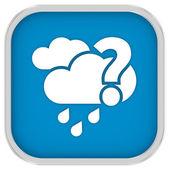 Waarschijnlijk bewolkt met kleine hoeveelheid regen teken — Stockfoto