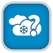 Likely cloudy with small amount of snow sign — Stock Photo