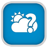 Likely partly cloudy sign — Stock Photo