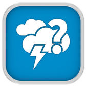 Likely mainly cloudy with possibility of lightning sign — Stock Photo