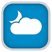 Partly cloudy at night sign — Stock Photo