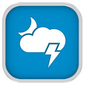 Cloudy at night with possibility of lightning sign — Stock Photo