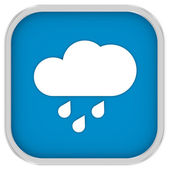 Mainly cloudy with considerable amount of rain sign — Stock Photo