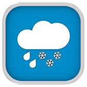 Mainly cloudy with considerable amount of rain and snow sign — Stock fotografie