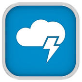 Cloudy with possibility of lightning sign — Stock Photo