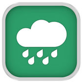 Cloudy with considerable amount of rain sign — Stock Photo