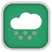 Partly to mainly cloudy with considerable amount of snow sign — Stock Photo
