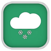 Partly to mainly cloudy with small amount of snow sign — Stock Photo