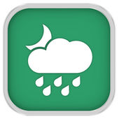 Cloudy at night with considerable amount of rain sign — Stock Photo