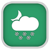 Partly to mainly cloudy with considerable amount of snow at night sign — Stock Photo