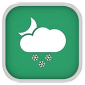 Partly to mainly cloudy with small amount of snow at night sign — Stock Photo