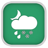 Cloudy at night with considerable amount of rain and snow sign — Stock Photo